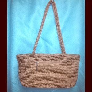 The SAK's Crocheted Satchel in tan